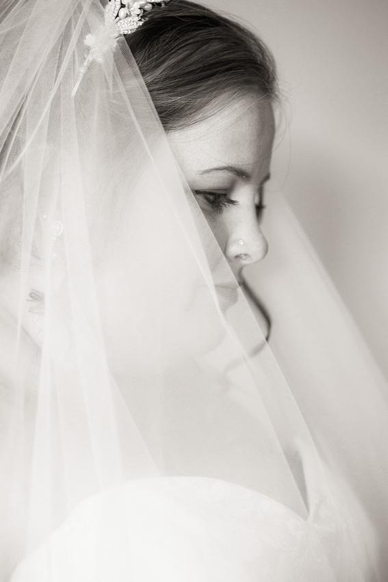 A pensive bride