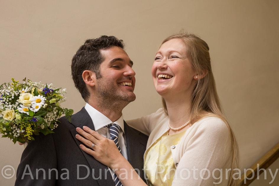 Wedding couple portrait taken using window light