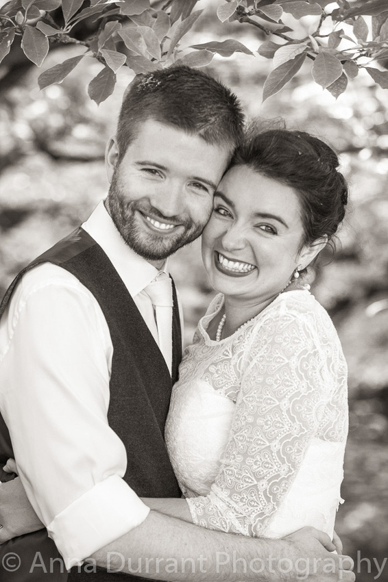 Bride and groom close up picture