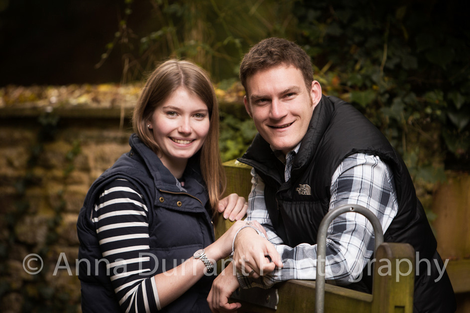 Engagement photography near Castle Combe