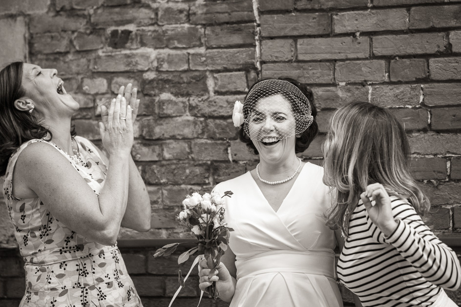 Bride with sisters