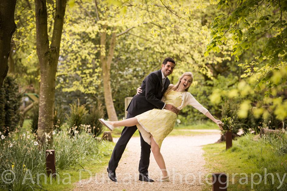 Bridal couple fun portrait